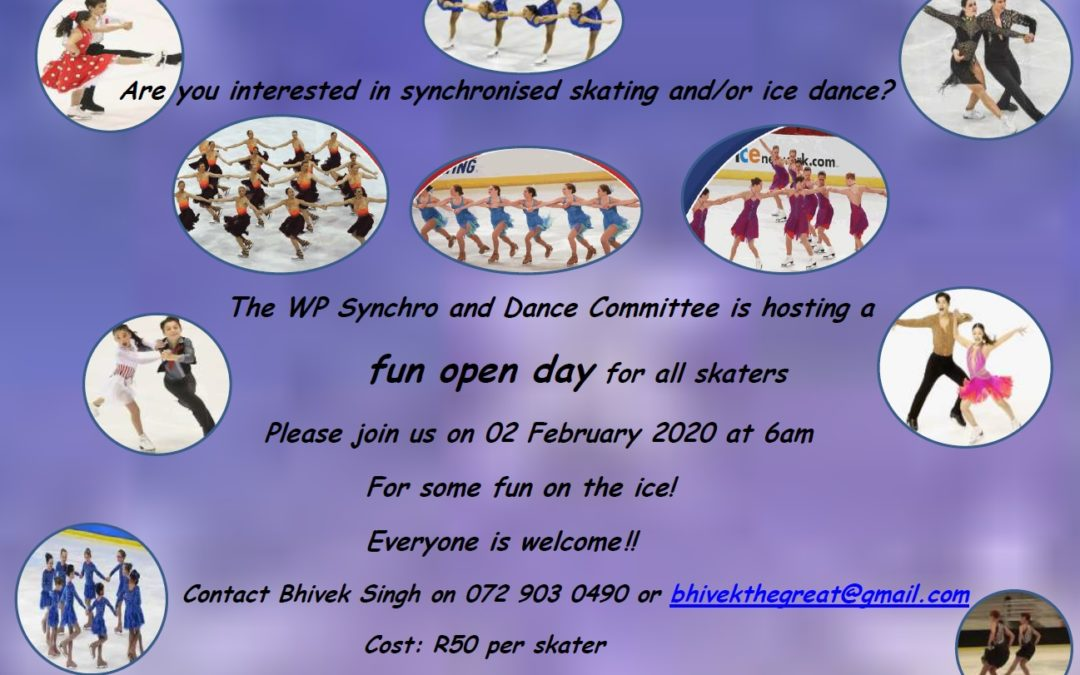 SYNCHRO AND ICE DANCE OPEN DAY – 02 FEBRUARY 2020