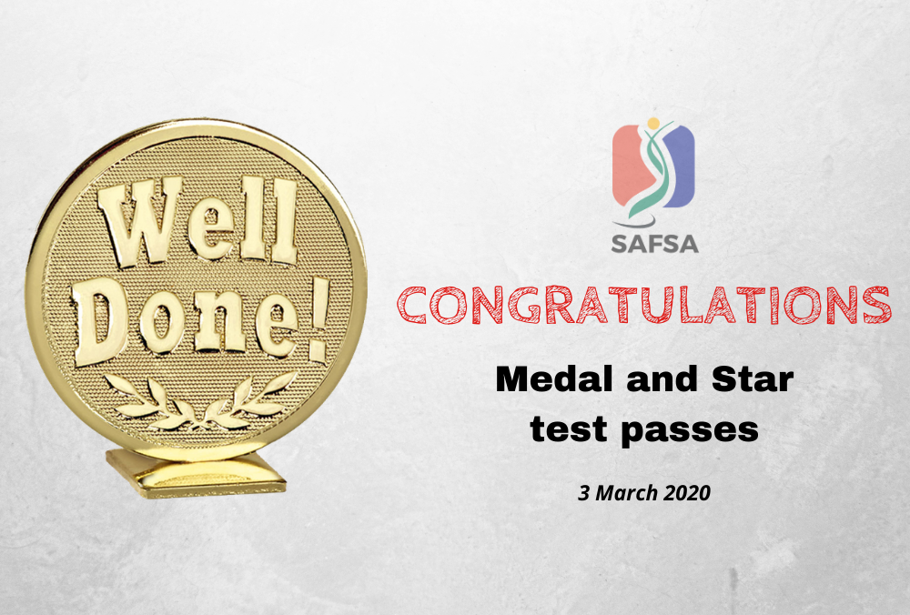 MEDAL TEST PASSES – 03 MARCH 2020
