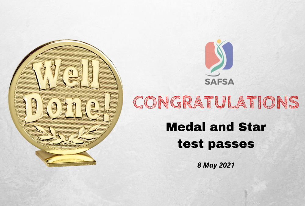 MEDAL TEST PASSES – 8 MAY 2021